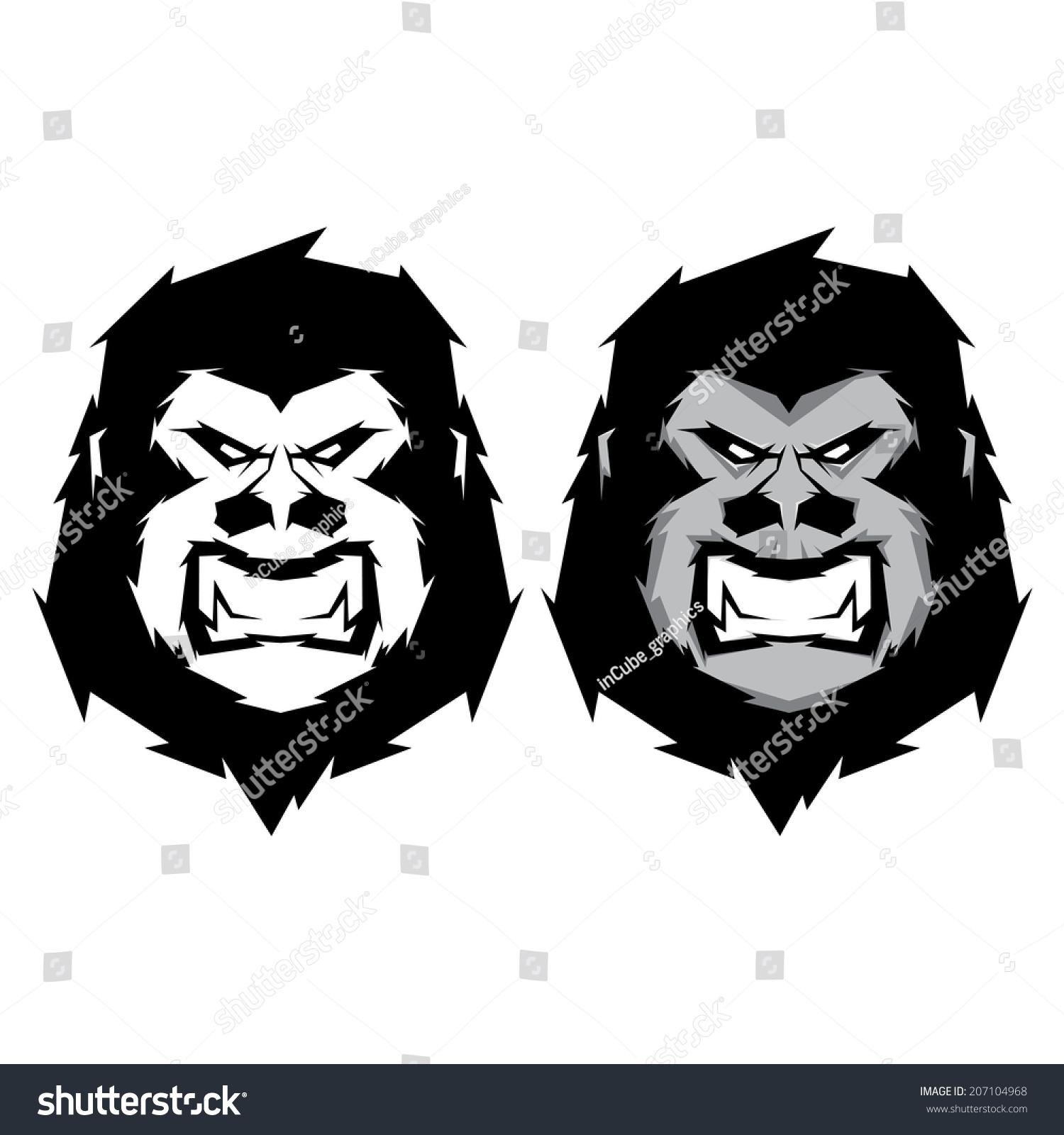 Gorilla vector head - photo#26