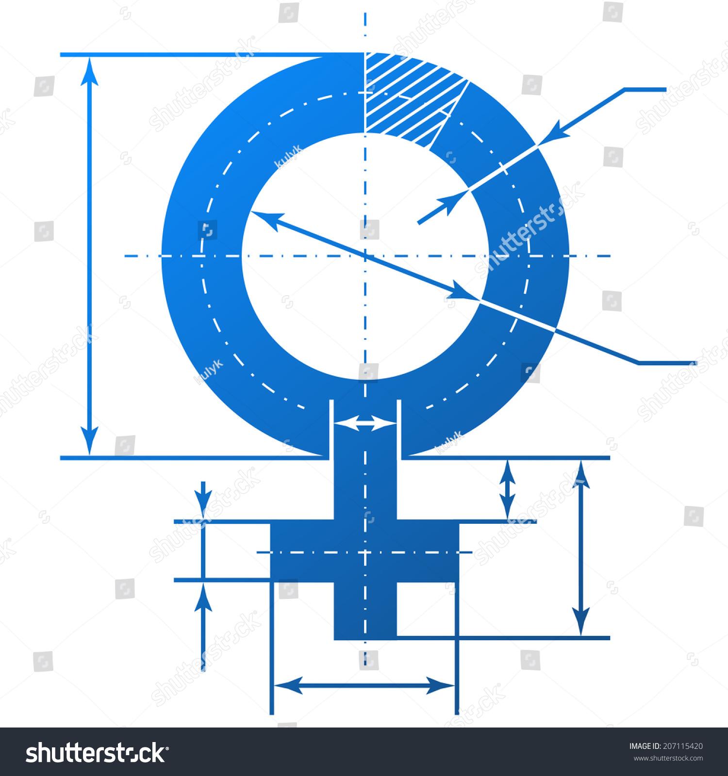 Drawing Lines Between Html Elements : Blueprint dimension symbols