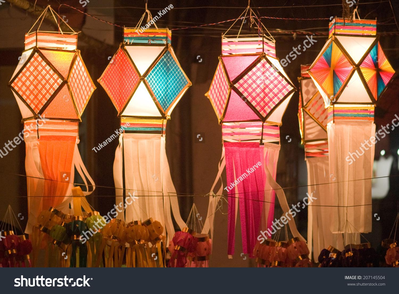 diwali decorative lamps for sale on diwali festival mumbai maharashtra india south east asia - Decorative Lamps