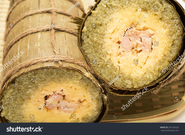 Vietnamese Sticky Rice Cake Wrapped Banana Stock Photo Edit Now 207156520