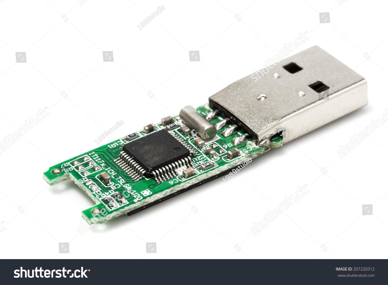 Chip Key Copy >> Bare Usb Stick Stock Photo 207220312 - Shutterstock
