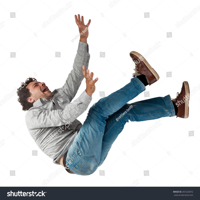 Falling Man Isolated On White Background Stock Photo 207226972 ...