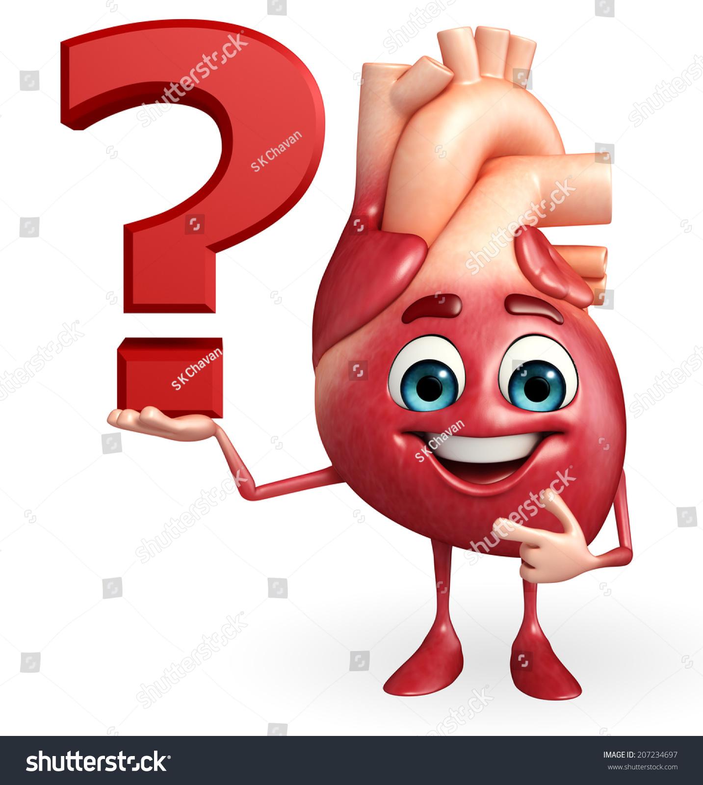 Cartoon Character Heart Question Mark Stock Illustration 207234697 ...