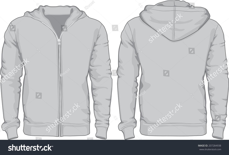 Mens Hoodie Shirts Template Front Back Stock-vektorgrafik 207284938 ...