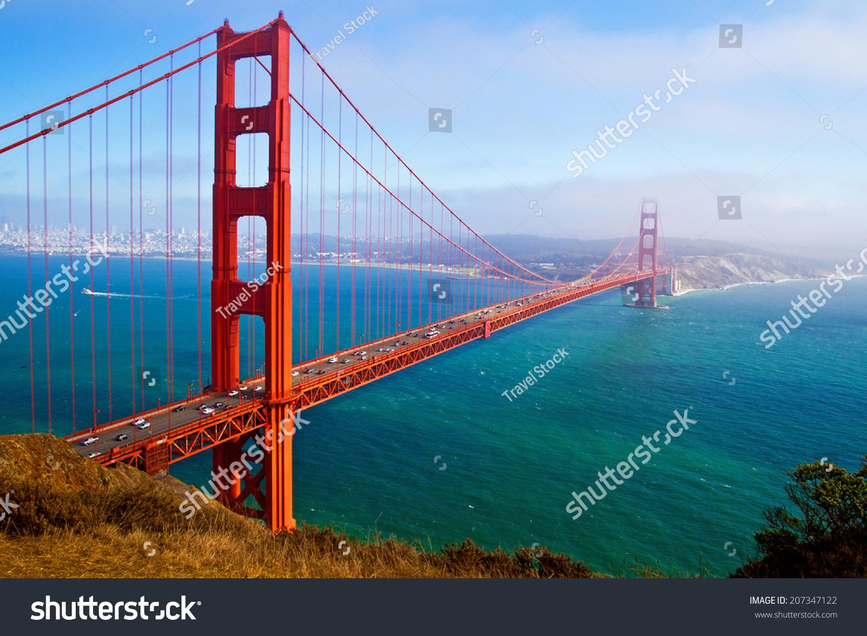 Golden gate bridge san francisco california usa stock photo