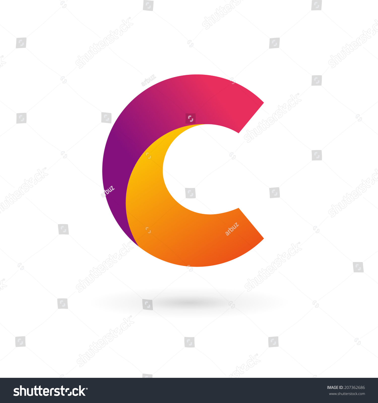 letter c logo icon design template stock vector 207362686 shutterstock. Black Bedroom Furniture Sets. Home Design Ideas