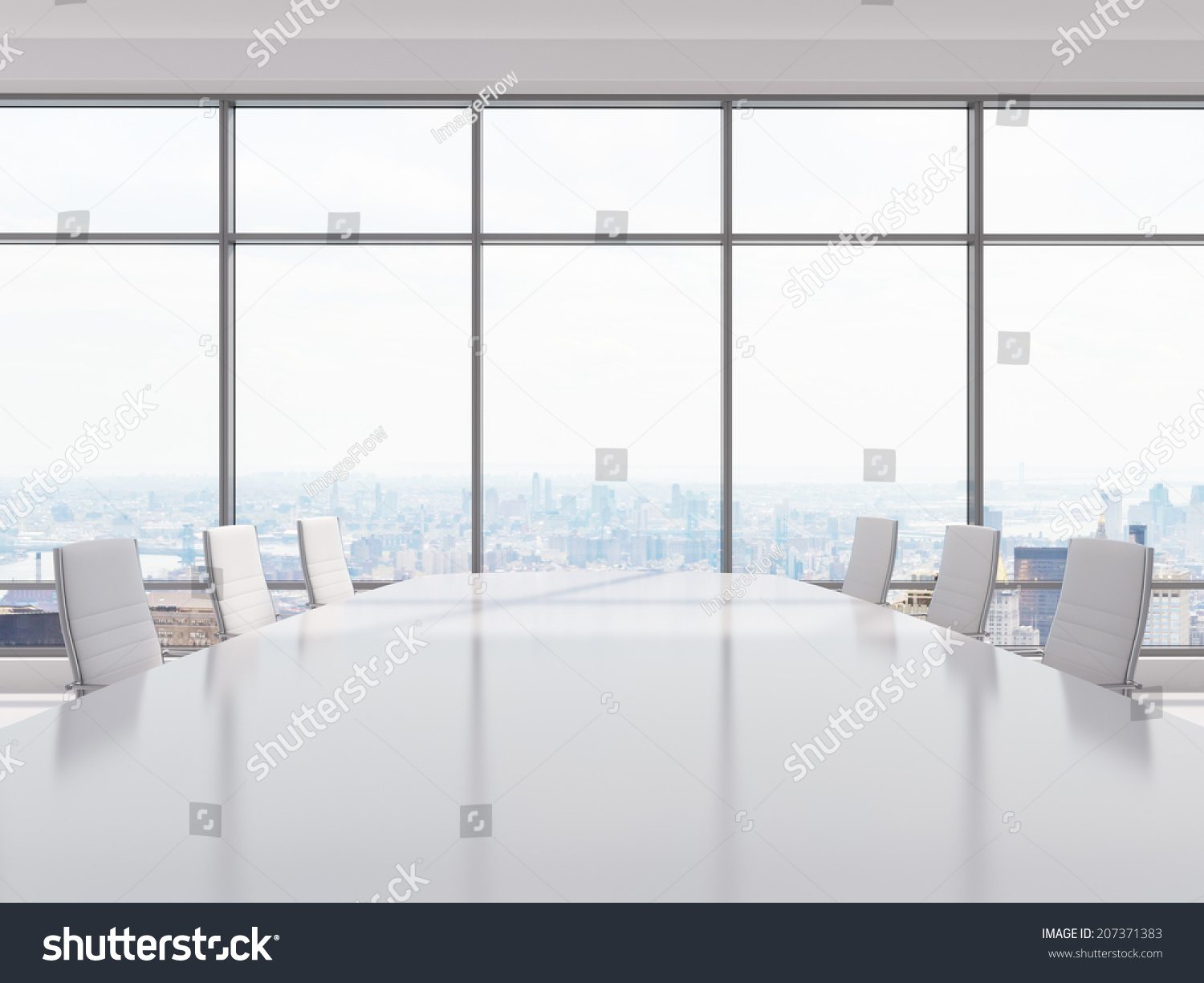 Conference Room Modern Office Windows City Stock Photo 207371383 ...