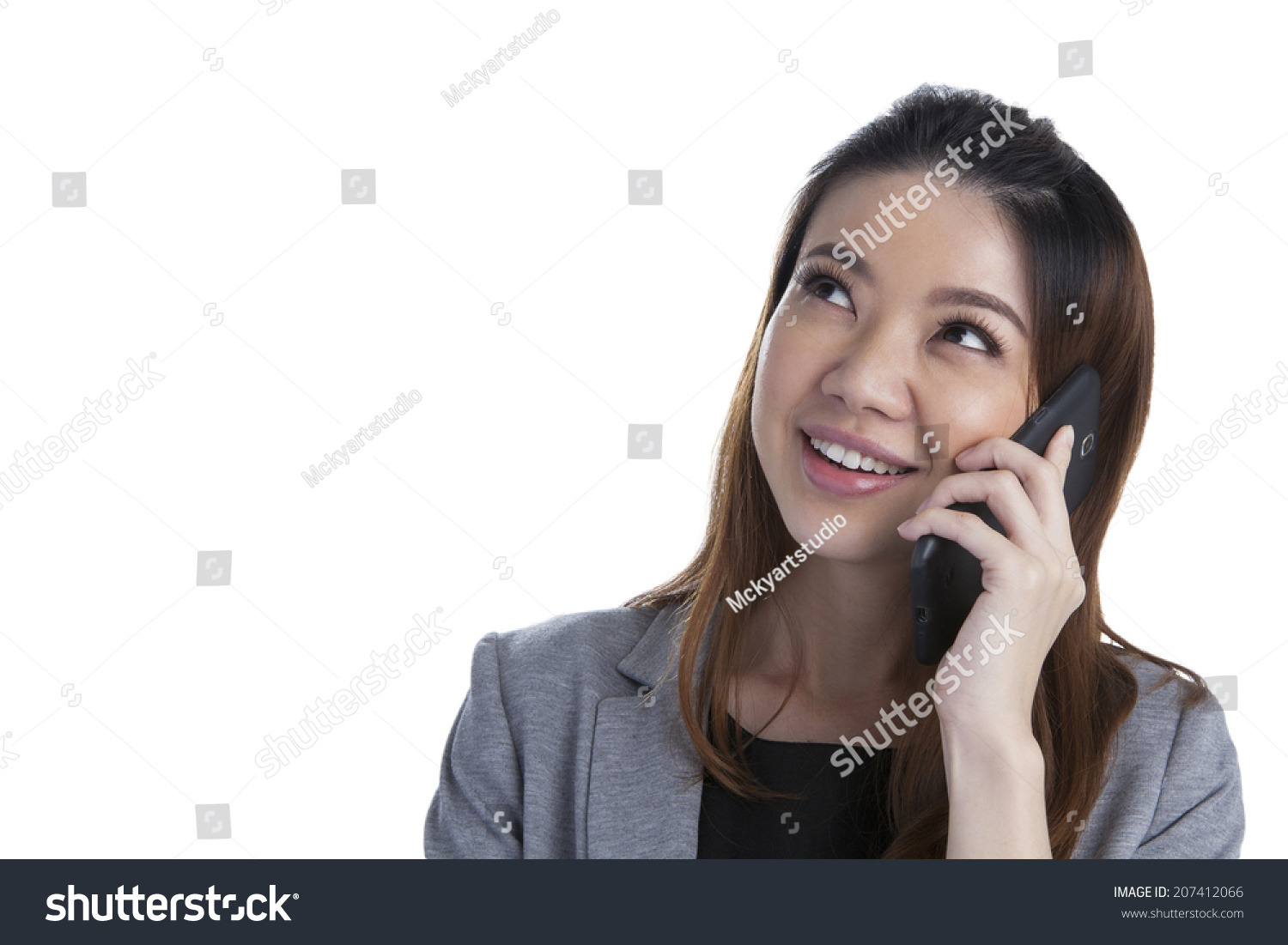 Talking on the cell phone while