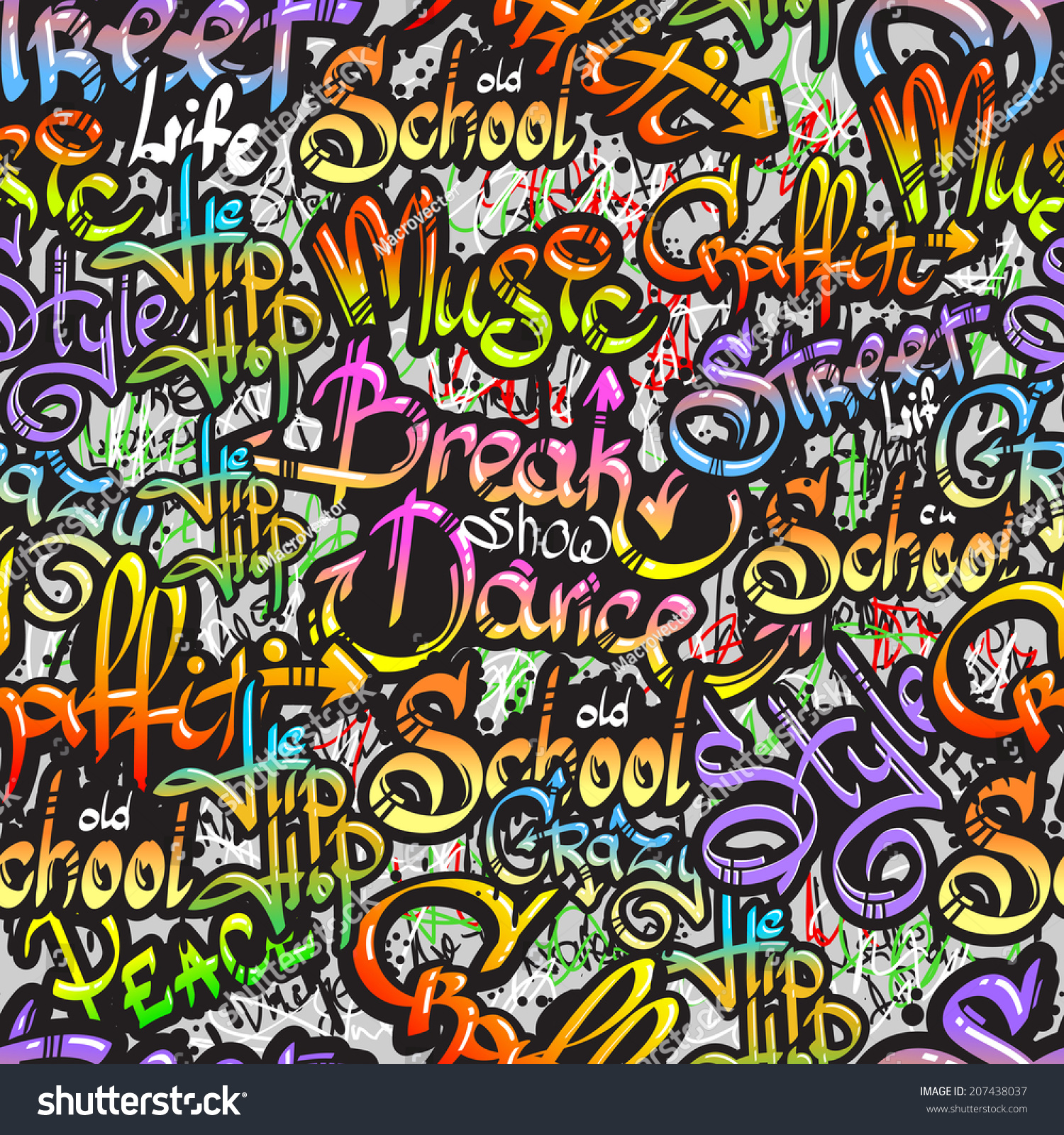 Graffiti spray paint expressive street crazy stock vector for Wall spray painting designs