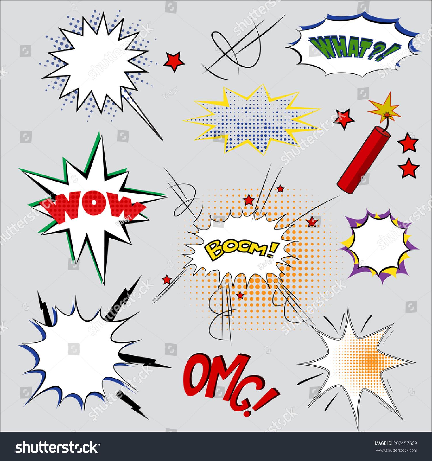 Vector Illustration Comic Speech Bubble Design Stock Vector ...