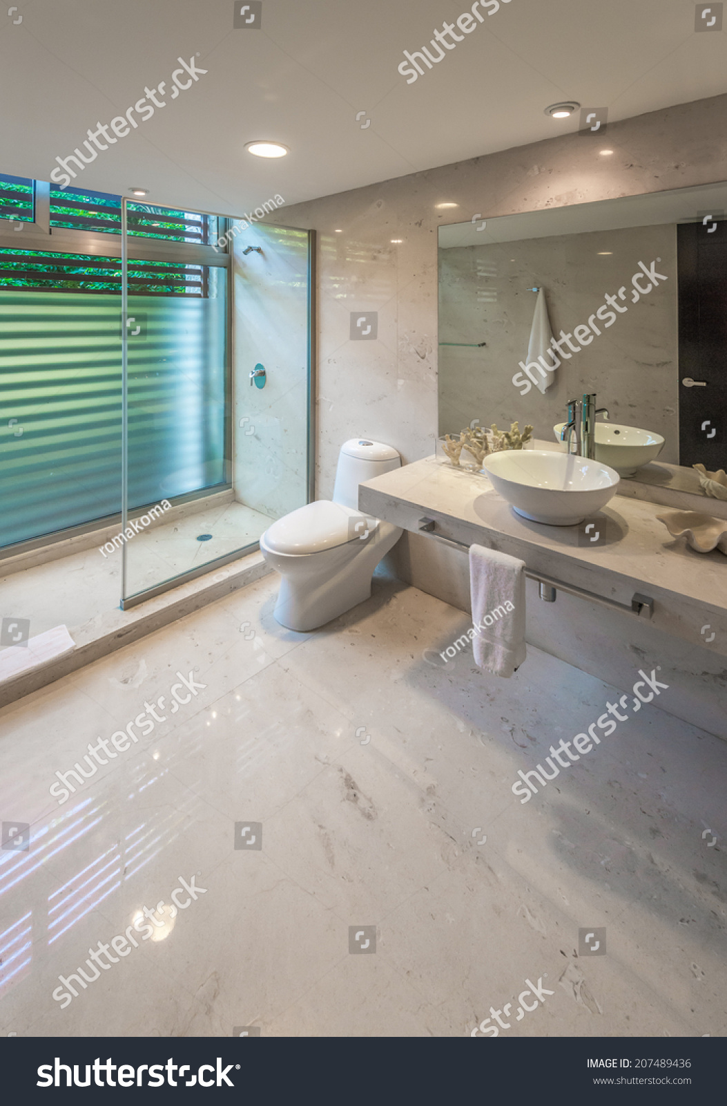 Nicely decorated modern luxury modern washroom stock photo - Nicely decorated bathrooms ...