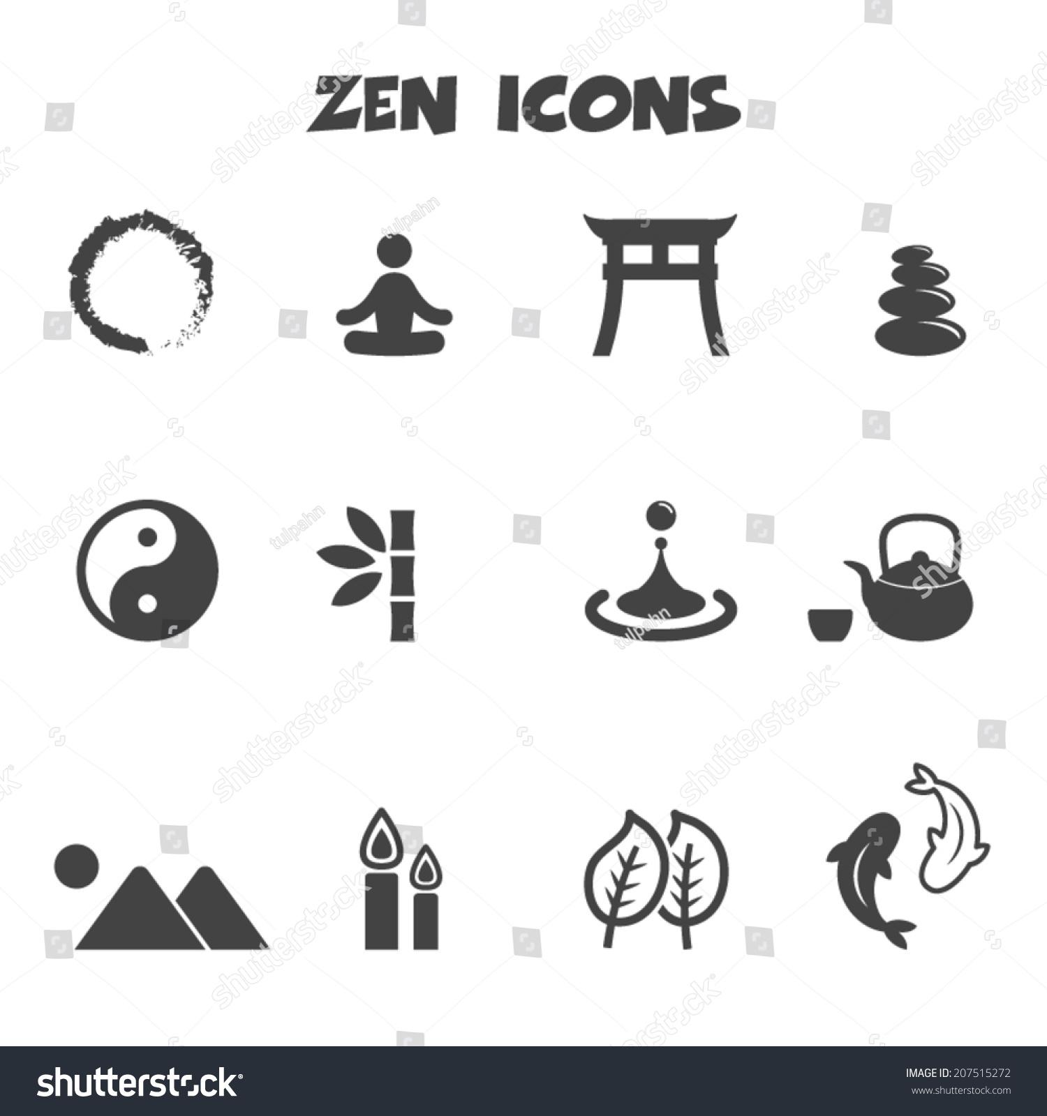 Zen Icons Mono Vector Symbols Stock 207515272