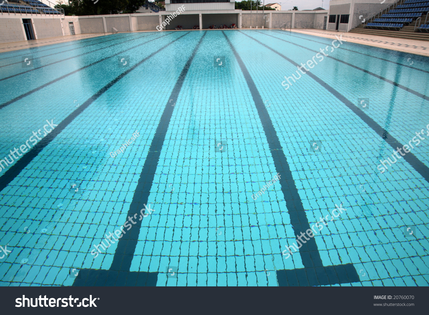 swimming pool with lane markings olympic size
