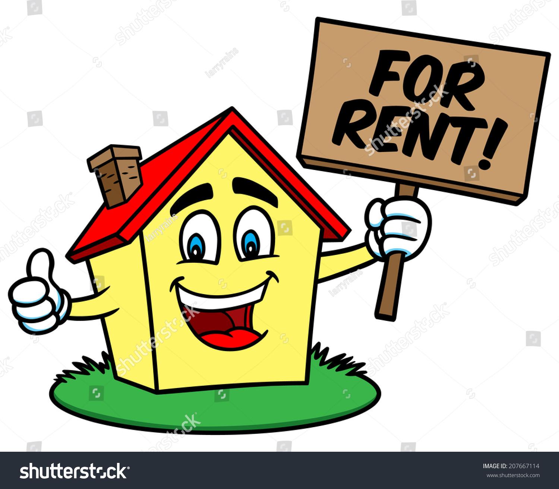 Cartoon House Rent Stock Vector 207667114