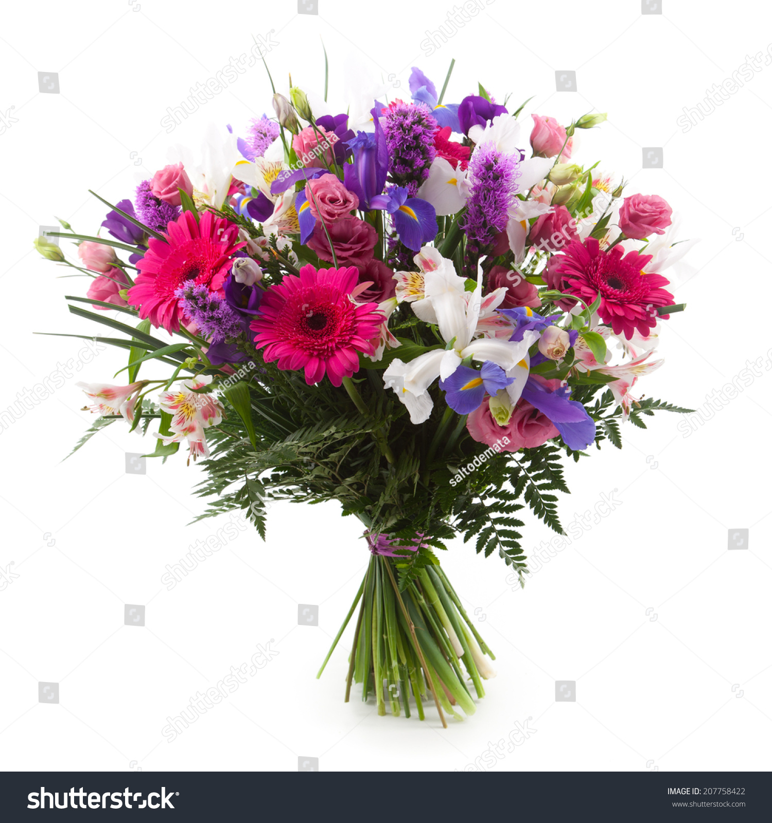 Purple and pink flowers bouquet pink purple and white flowers bouquet stock photo izmirmasajfo Choice Image