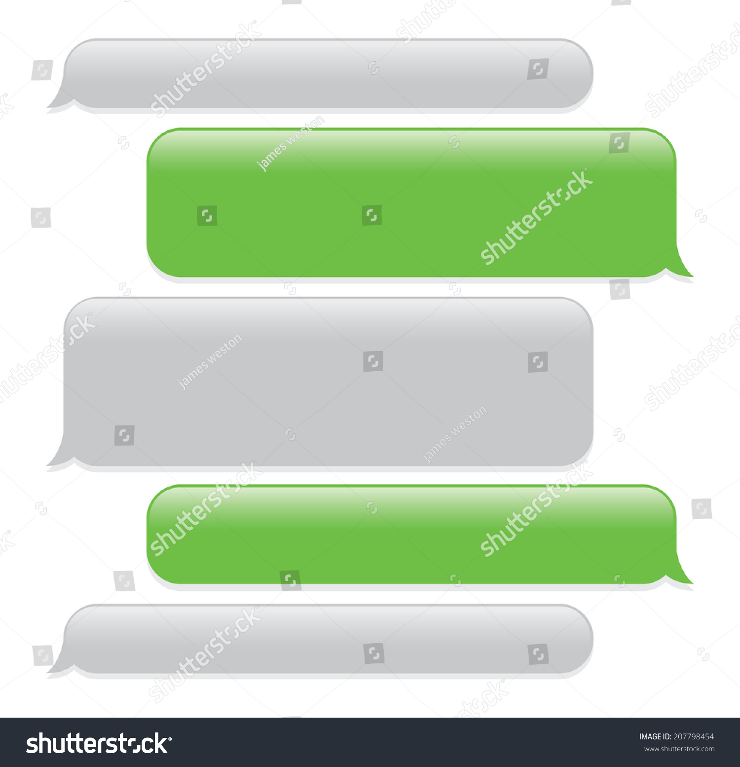 Blank Text Message Bubbles text message stock photos, images ...