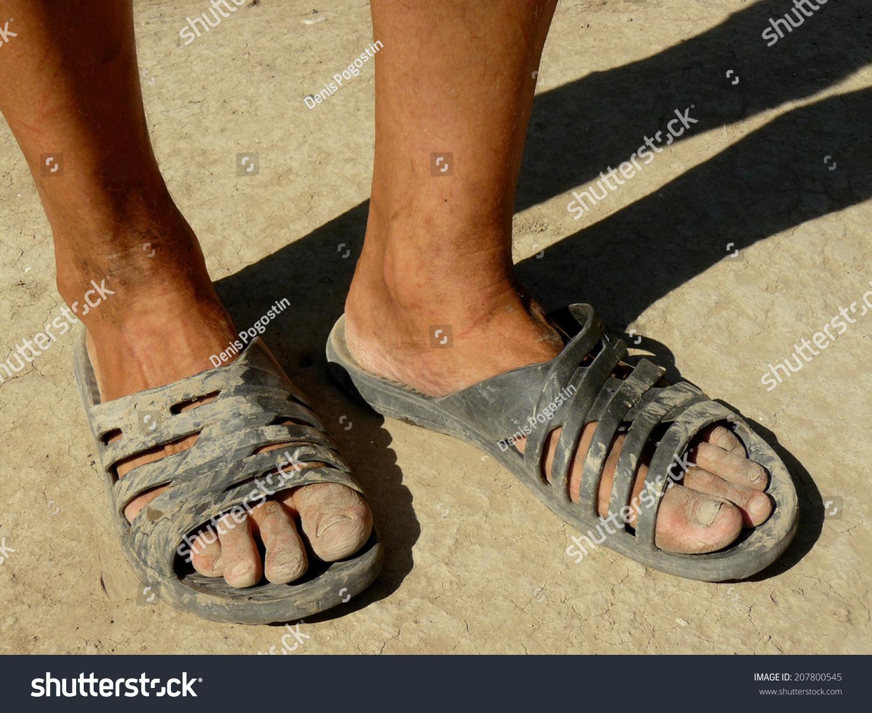 Funny Dirty Female Feet On A Stone Beach Stock video