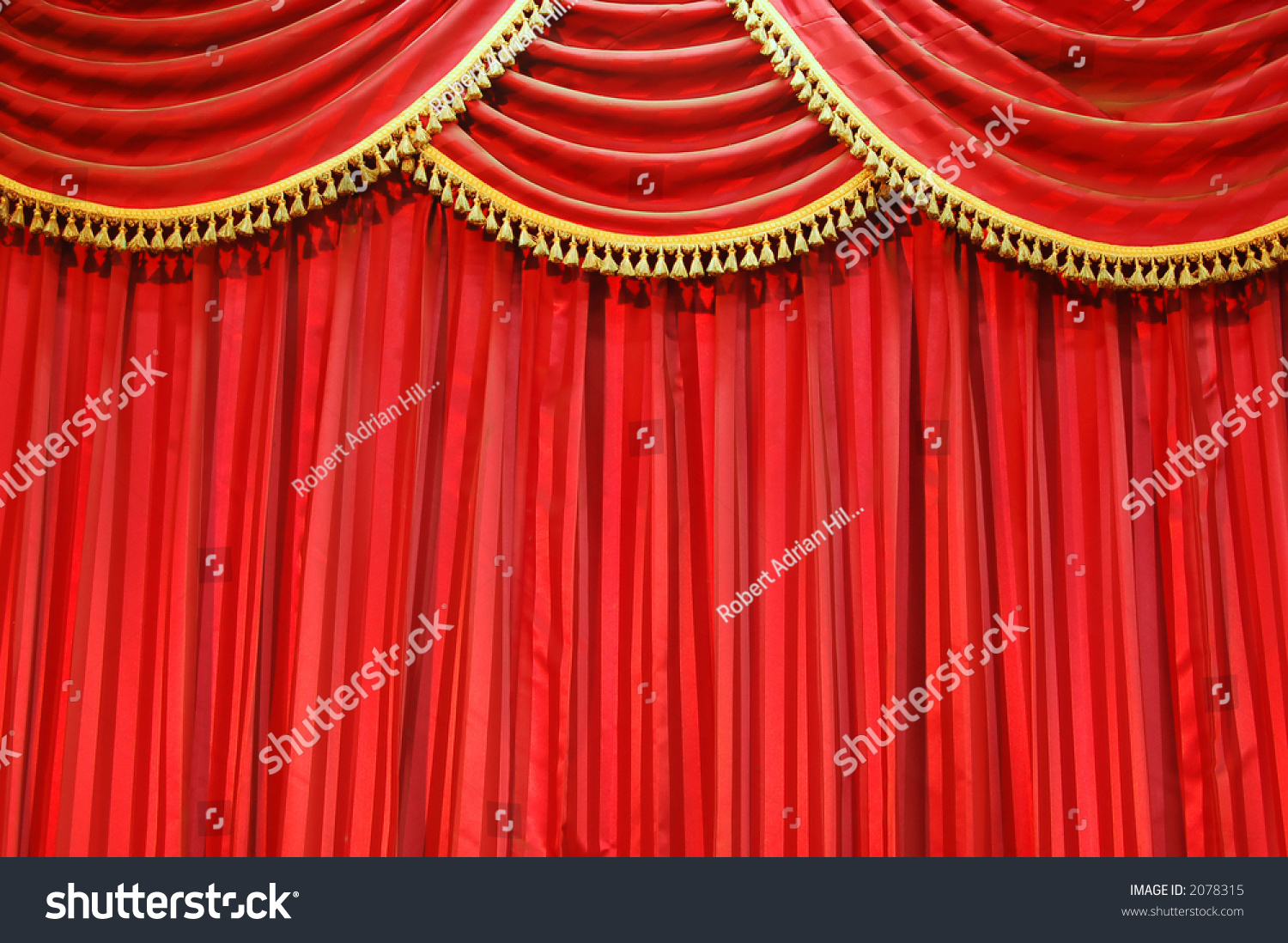 Closed theater curtains - Background Of Red Velvet Closed Theatre Curtains