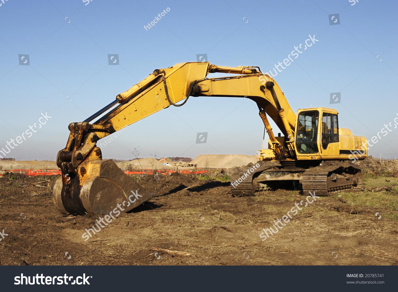 Heavy Excavation Equipment Large Construction Site Stock Photo ...