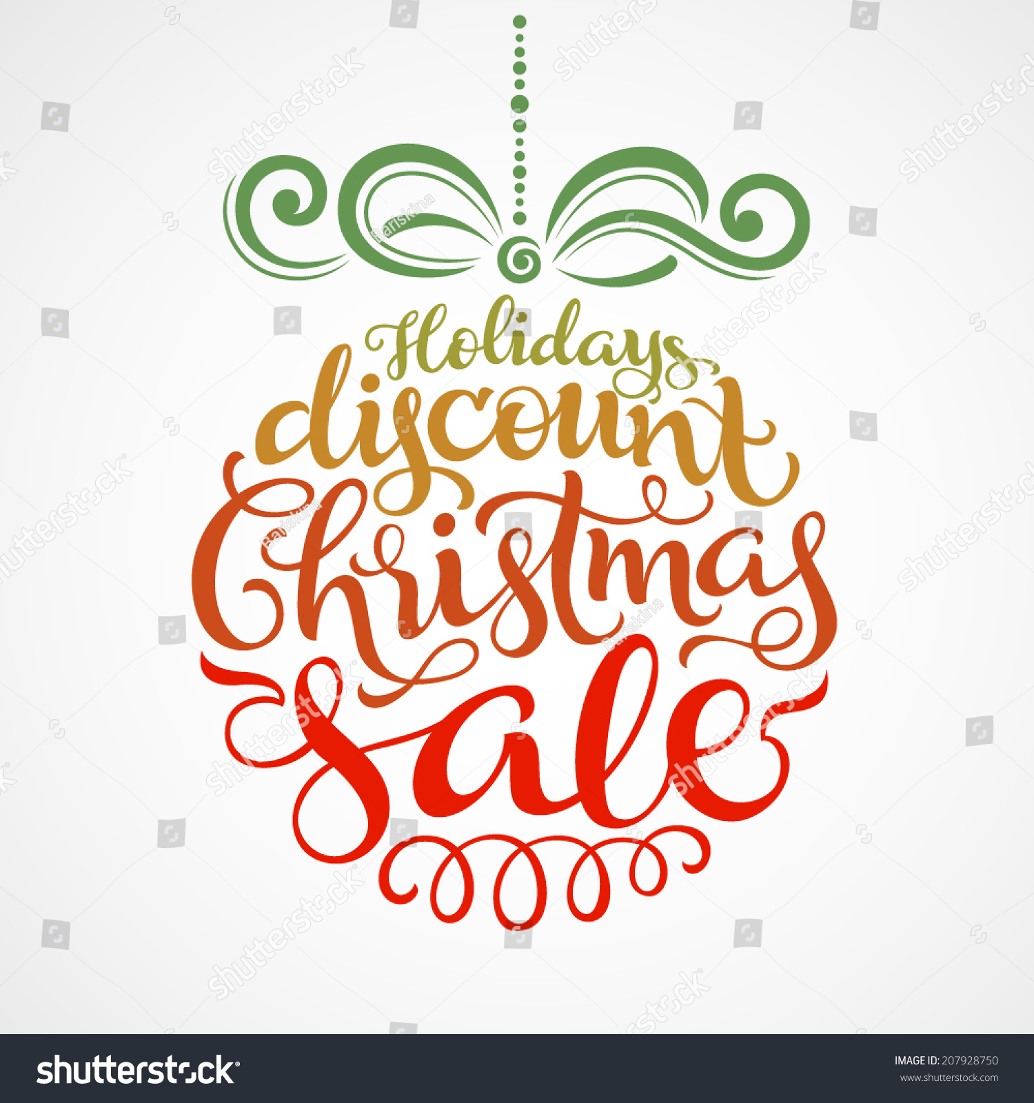 Vector background christmas decoration your design stock vector 207928750 s - Deco design discount ...