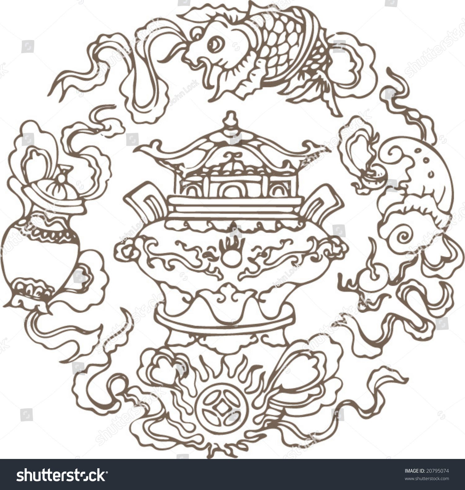 Vector Classical Traditional Chinese Pattern Stock Vector ...