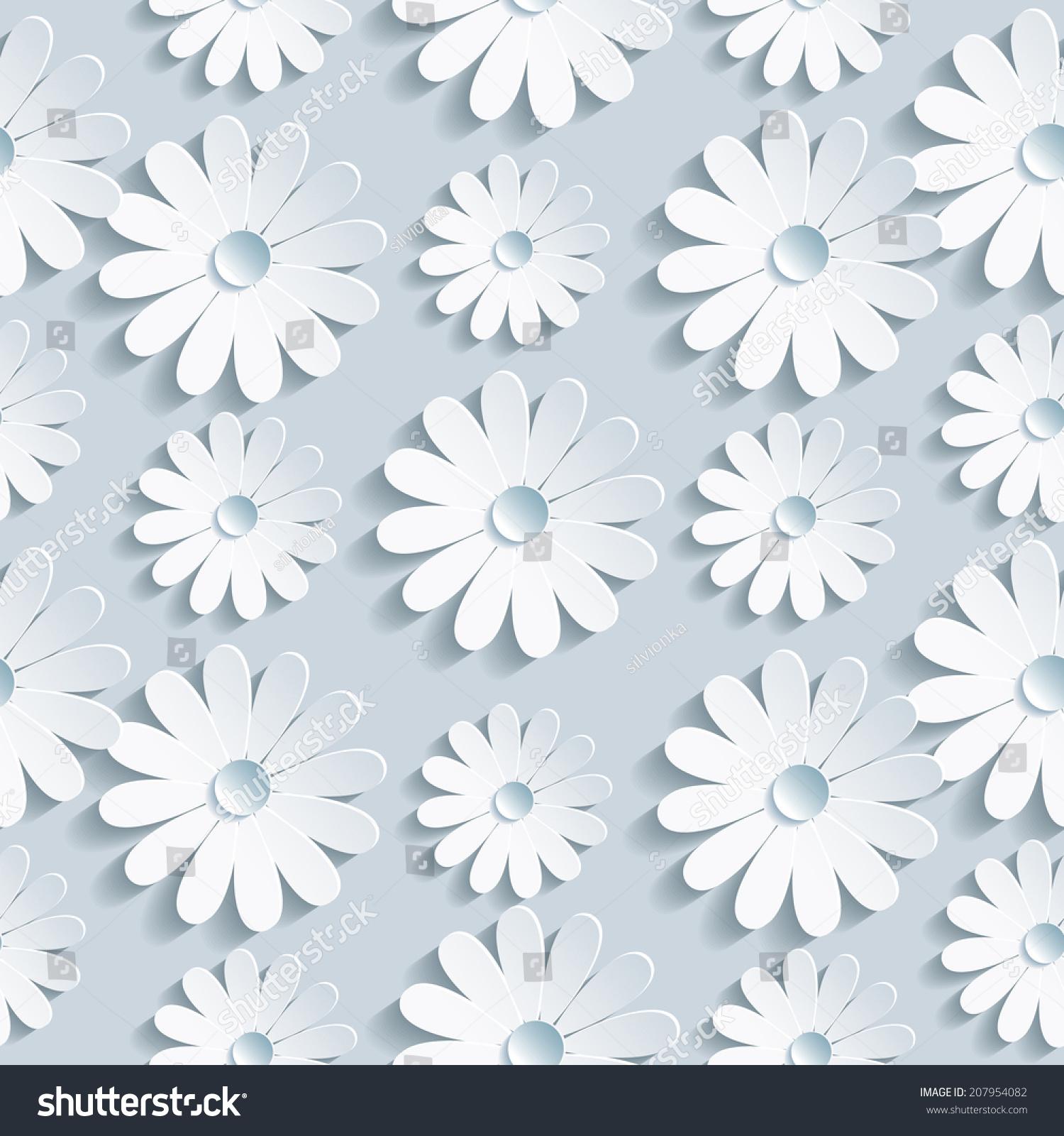 Beautiful Background Seamless Pattern Grey White Stock Vector