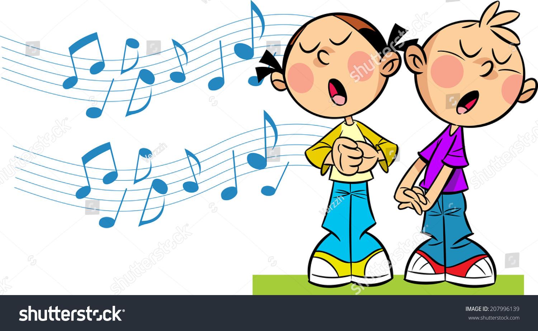 Child singing clipart
