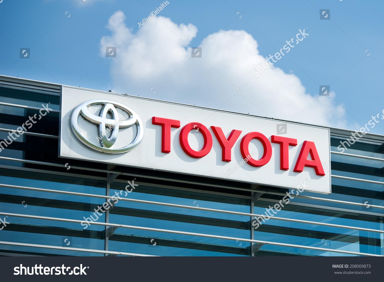 Vilnius July 6 Toyota Logo On July 6 2014 In Vilnius