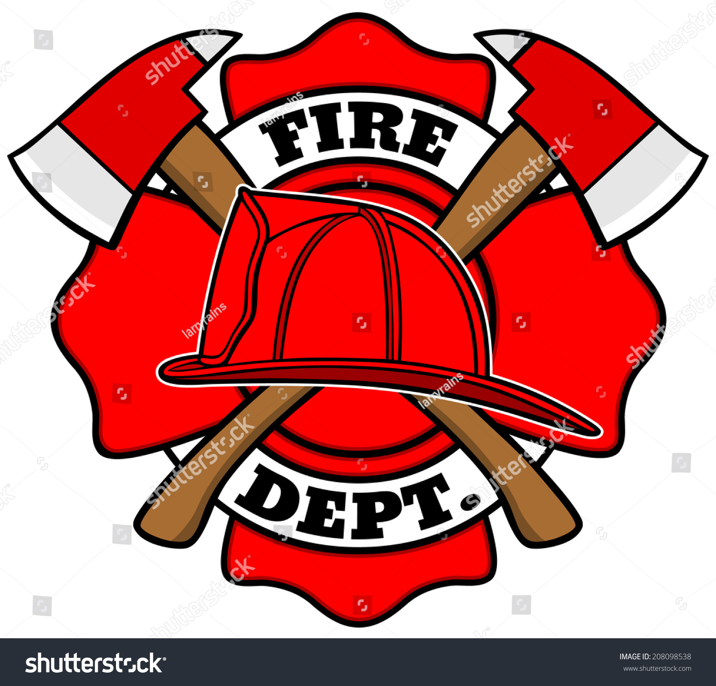 Firefighter badge stock vector 208098538 shutterstock firefighter badge buycottarizona Choice Image