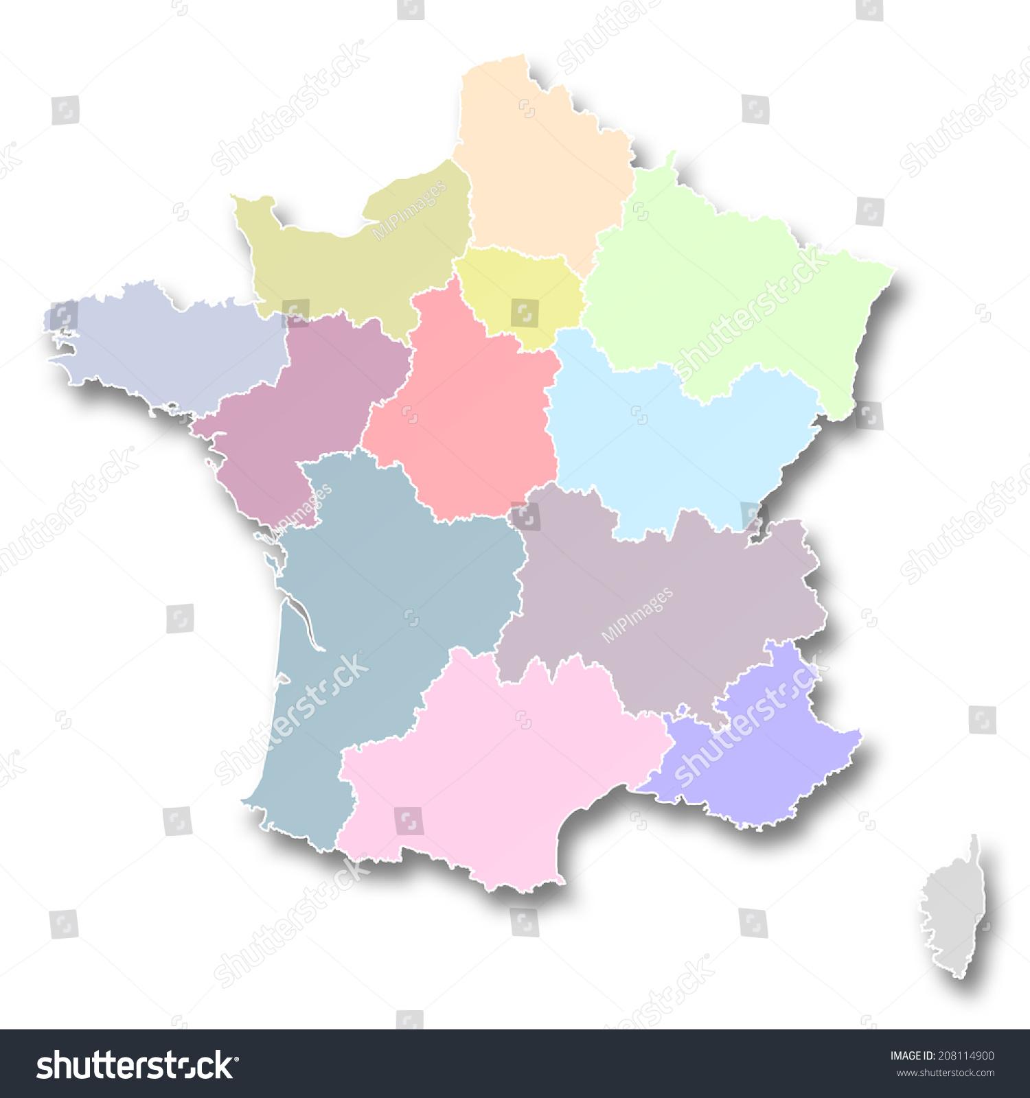 Regions Of Canada Map%0A map of france regions map new regions france stock illustration            shutterstock
