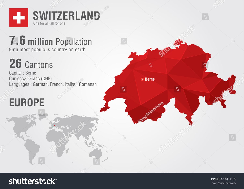 Switzerland world map pixel diamond texture vector de stock208171168 switzerland world map with a pixel diamond texture world geography gumiabroncs Choice Image