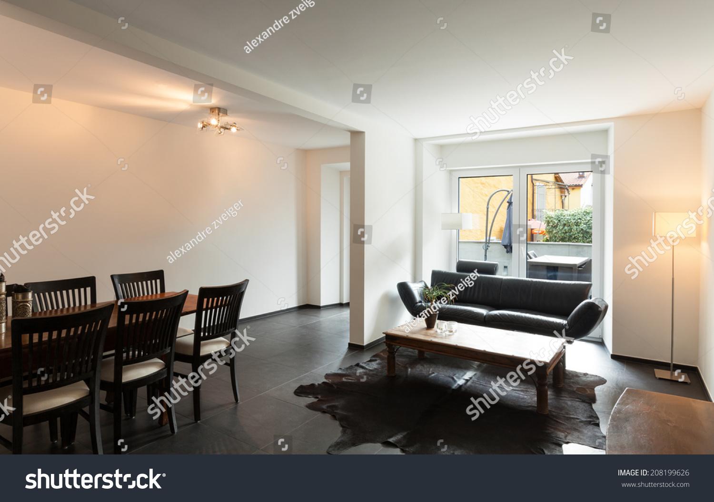 Interior Modern House Nice Living Room Stock Photo 208199626 Shutterstock