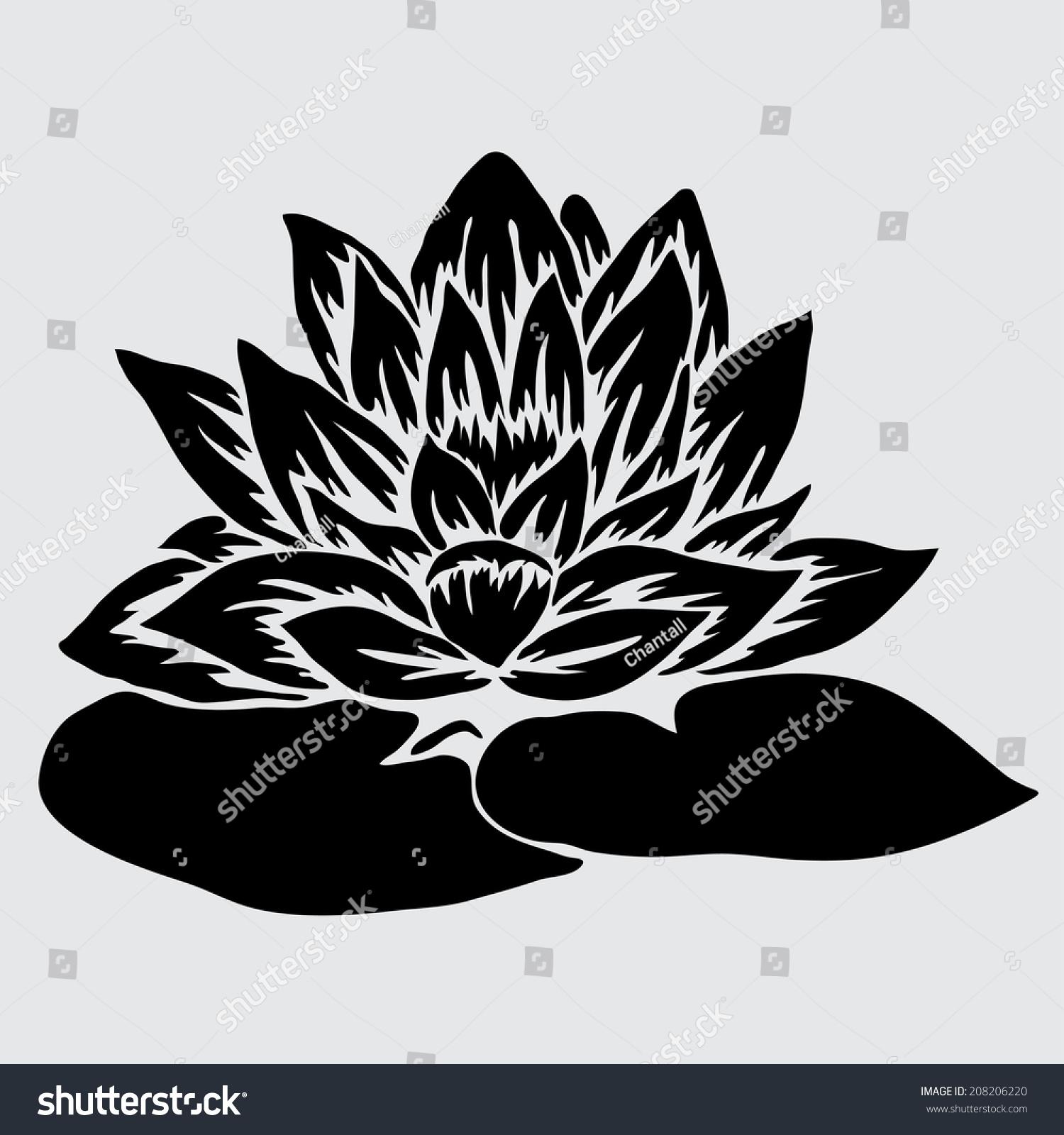 Elegant decorative lotus flower design element stock illustration elegant decorative lotus flower design element floral branch floral decoration for vintage wedding izmirmasajfo