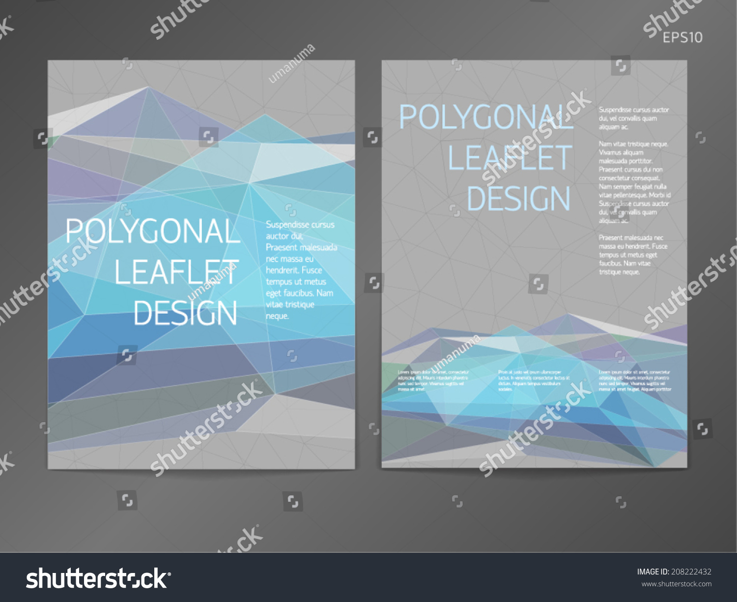 double sided brochure template - threecolumn doublesided vector leaflet brochure cover