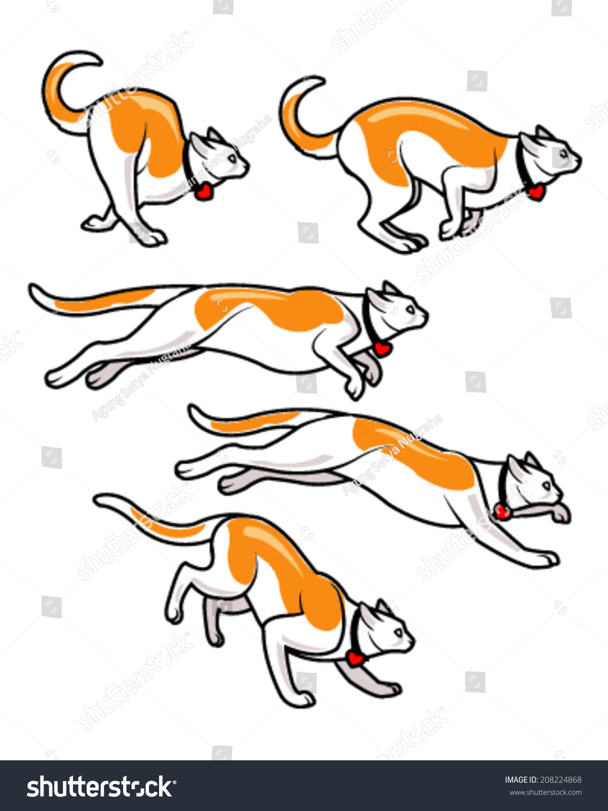 Make An Origami Wolf Cat Running Fast Sprite Stock Vector Illustration  208224868 : Shutterstock Cat Running