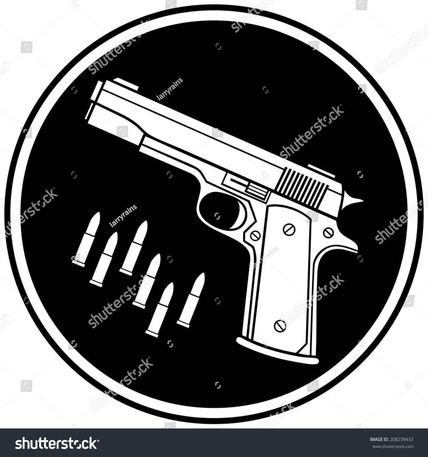 Gun shop symbol stock vector 208239433 shutterstock gun shop symbol buycottarizona