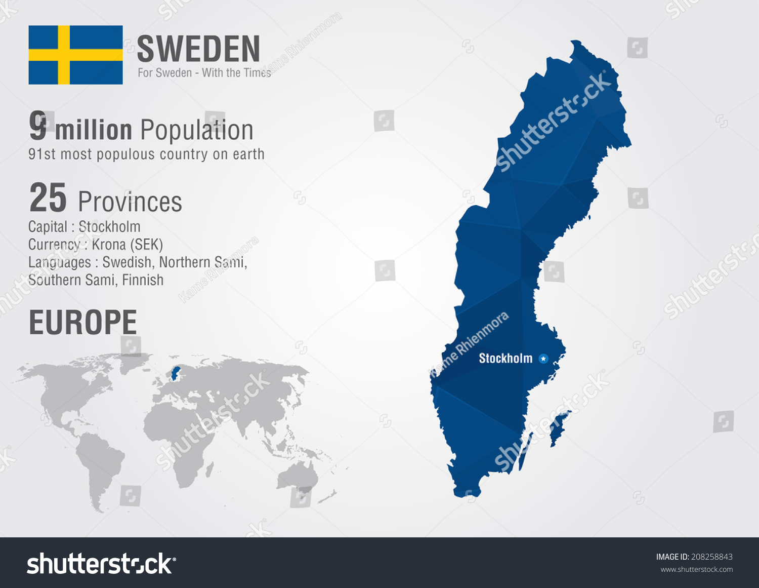 Sweden world map pixel diamond texture stock vector 208258843 sweden world map with a pixel diamond texture world geography gumiabroncs Images