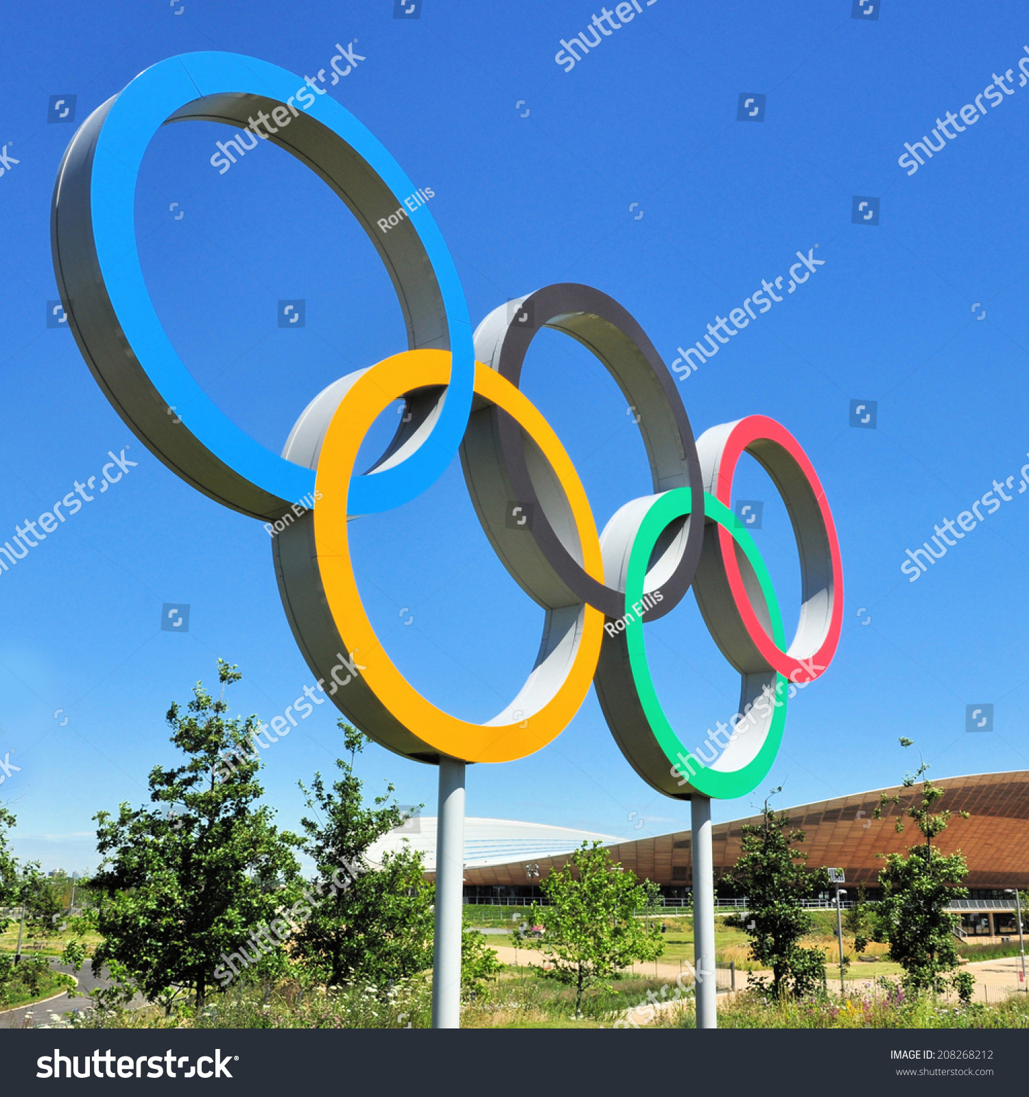 London July 3 Olympic Games Symbol Stock Photo Royalty Free