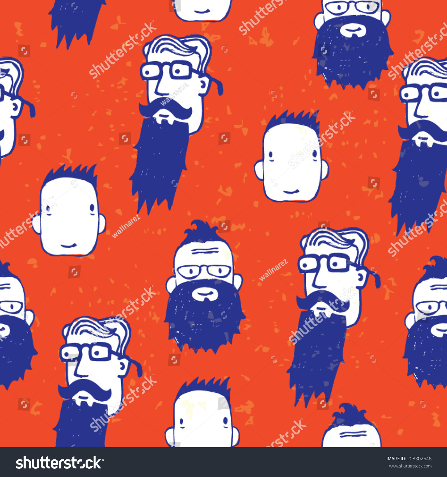 Wallpaper Cartoon Hipster Style Stock Vector Royalty Free