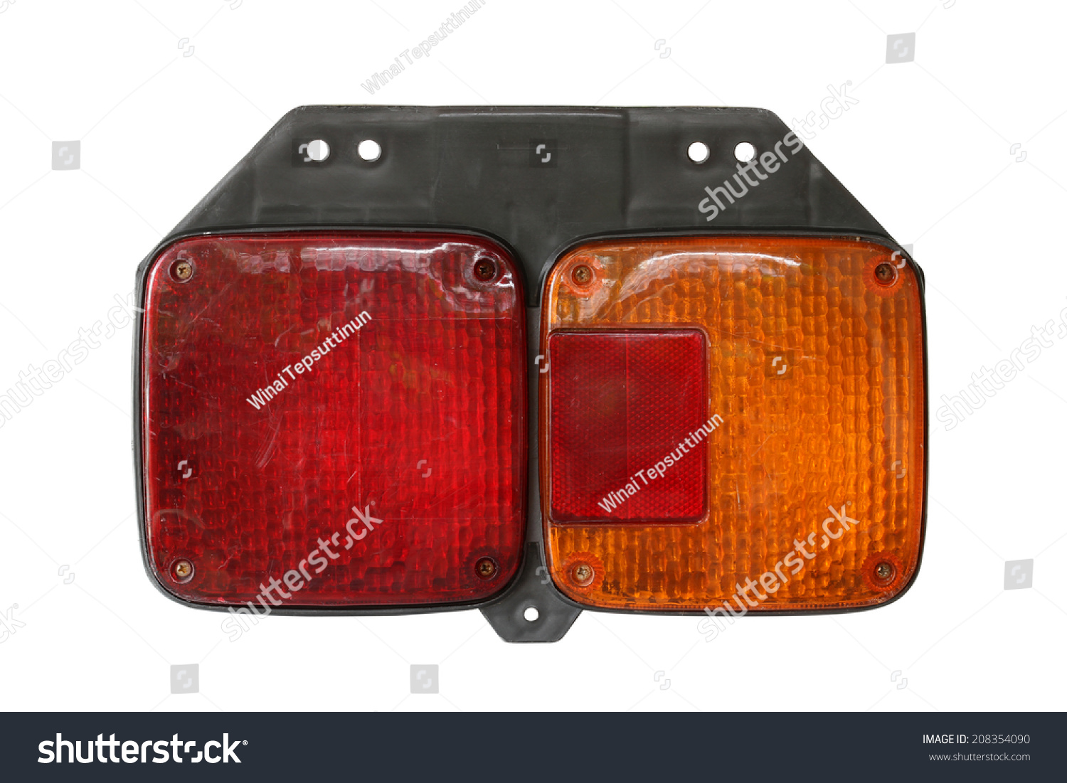 Tail Light Truck Isolated On White Stock Photo (Royalty Free ... for Truck Light Texture  257ylc
