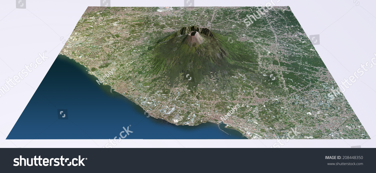 Aerial View Mount Vesuvius Map Images Stock Illustration - Mount vesuvius map