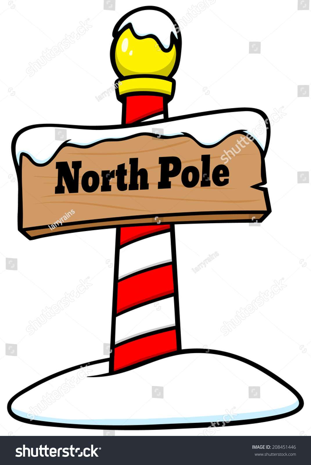 north pole sign stock vector 2018 208451446 shutterstock rh shutterstock com north pole sign clipart north pole sign clipart free