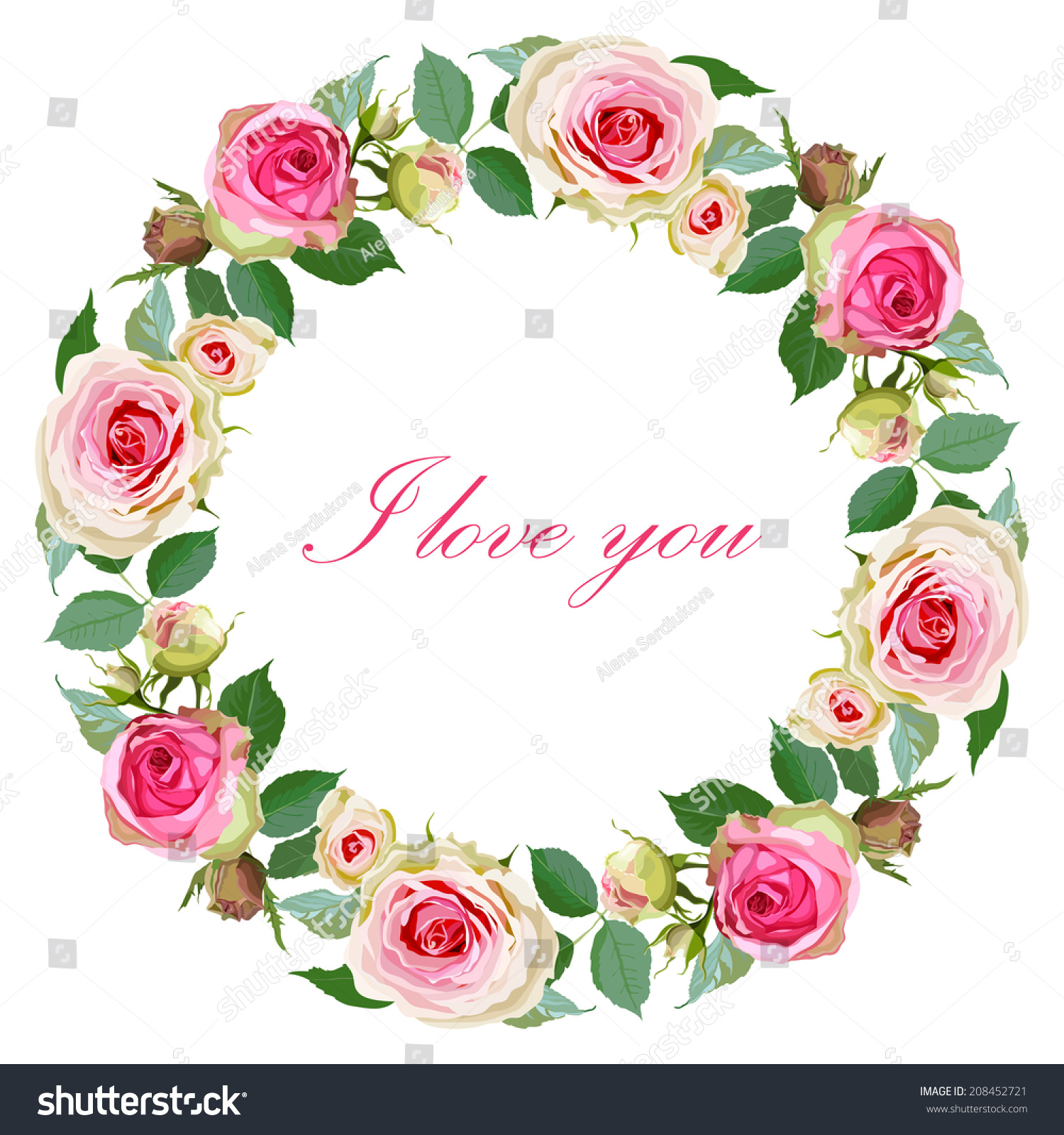 save date floral card wedding invitation stock vector 208452721 shutterstock. Black Bedroom Furniture Sets. Home Design Ideas