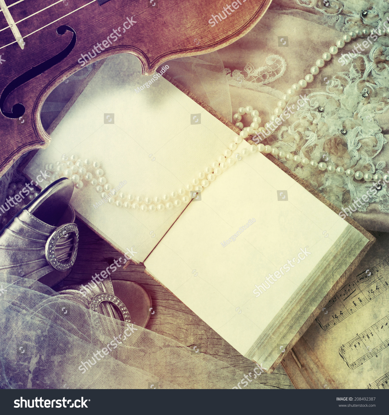Guest Book Wedding Dress Shoes Pearl Stock Photo Edit Now 208492387