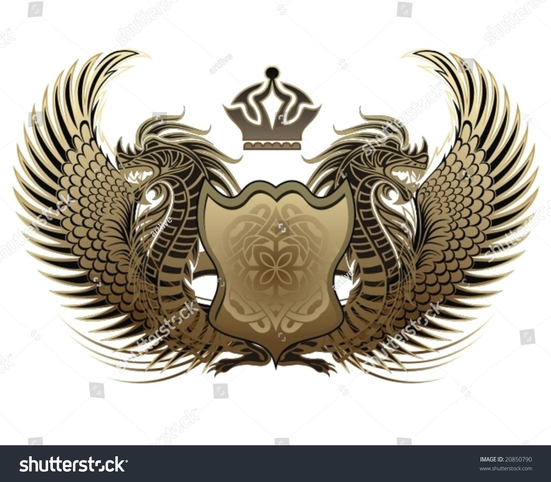 Dragon Heraldry: Dragons Heraldry Stock Vector Illustration 20850790