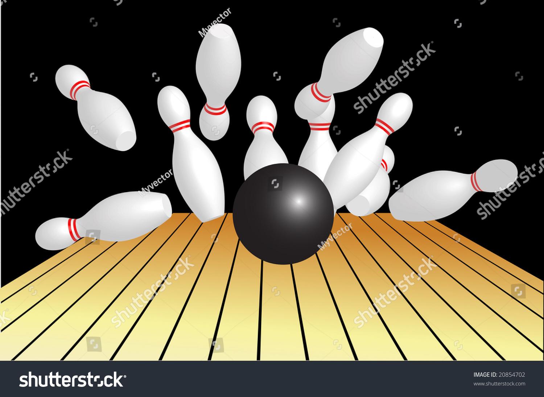 Bowling Ball Hitting Pins Stock Photo 20854702 Shutterstock