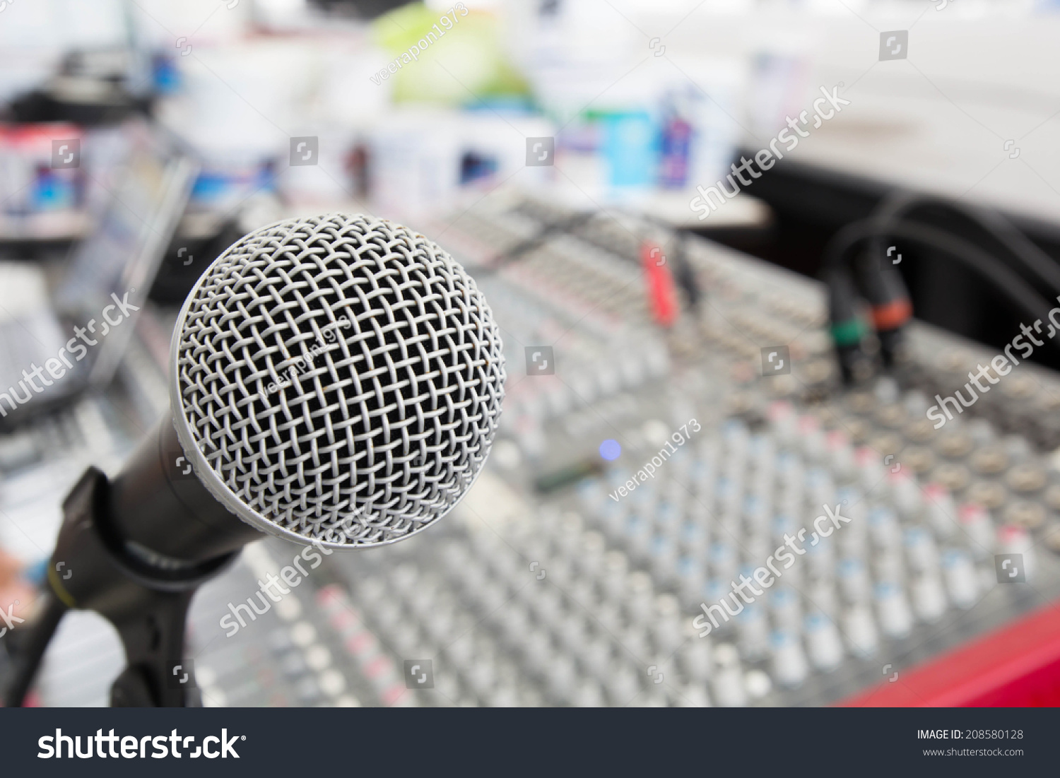 Microphone Mixer Broadcasting Equipment Be Louder Stock Photo Edit To And More Melodic