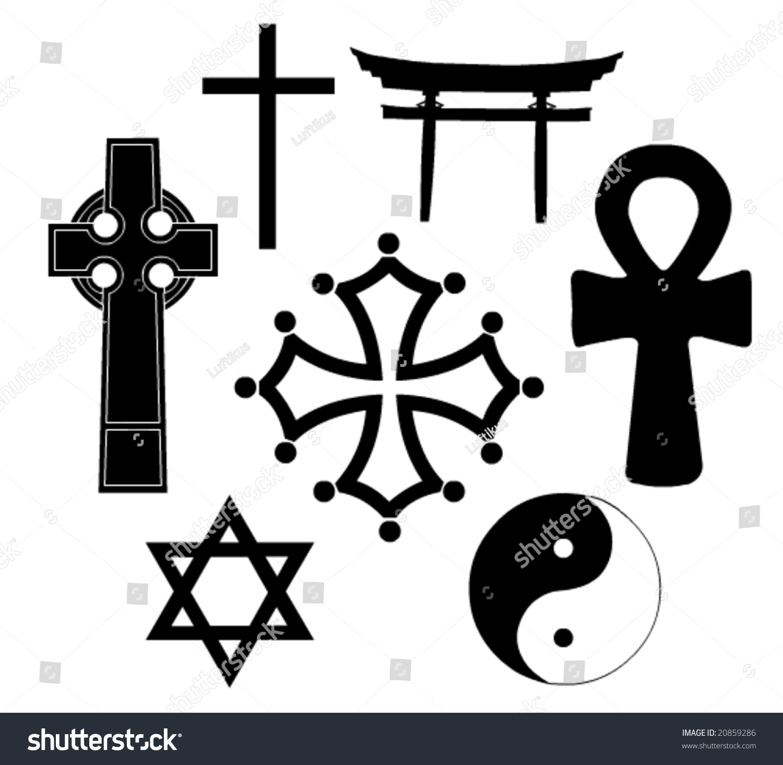 Religious Symbols Vector Art Stock Vector Royalty Free 20859286