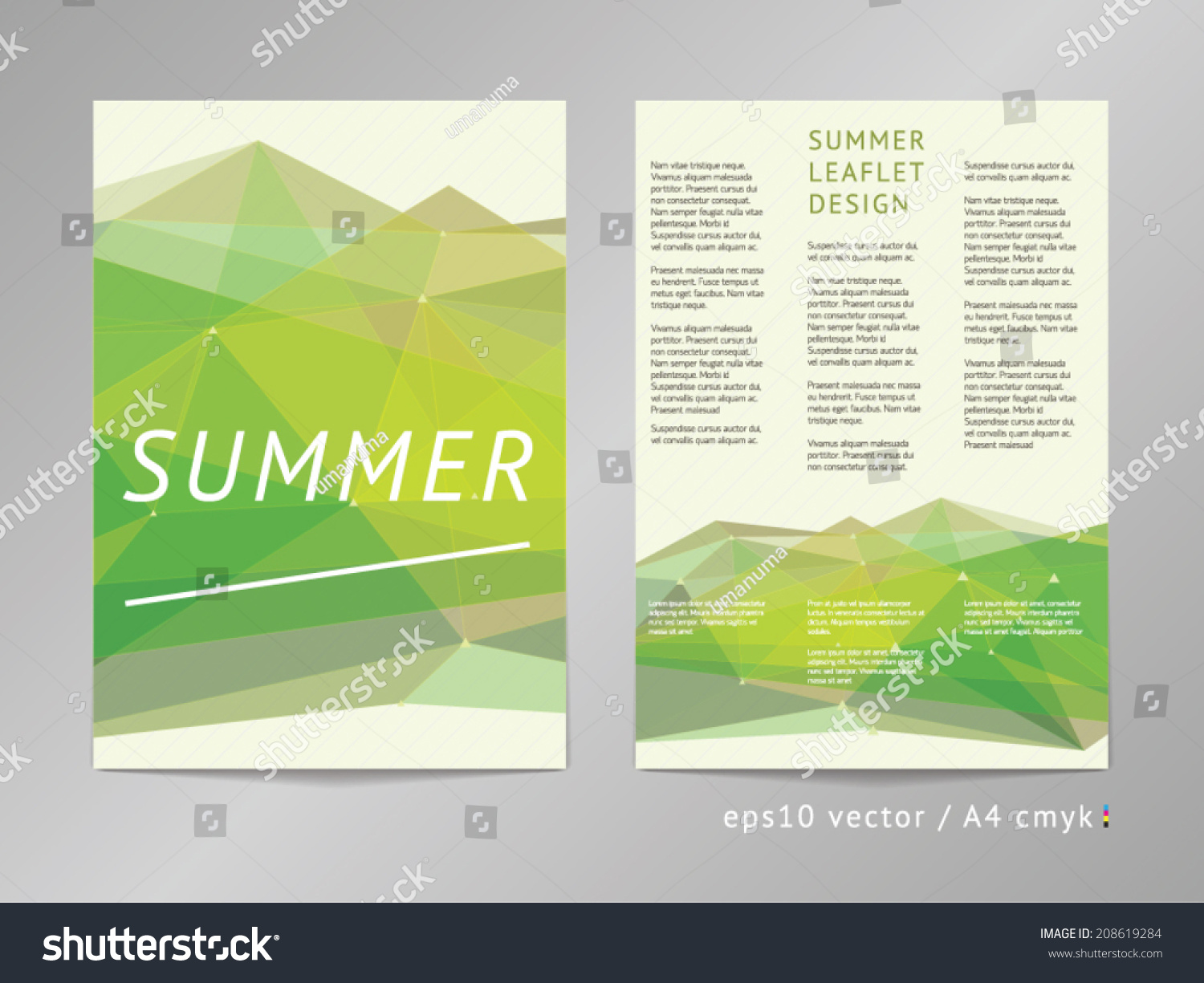 Threecolumn double sided vector leaflet brochure stock for Double sided brochure template