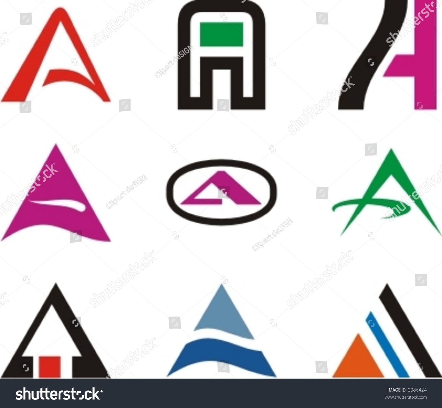 Alphabetical Logo Design Concepts. Letter A. Check my portfolio for ...